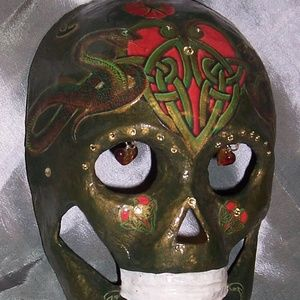 Hand painted sugar skull/ Day of the Dead mask